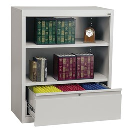 "Bookcase w/ Drawer Cabinet (42"" H)"