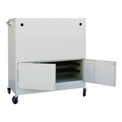 Mobile MLS Series Laptop Cart - Rear Access Panel Shown