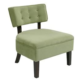 Curves Series Button Chair - Spring green velvet