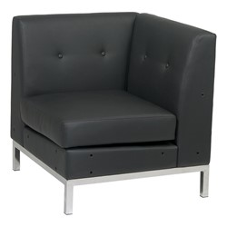 Wall Street Series Modular Corner Chair - Black