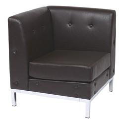 Wall Street Series Modular Corner Chair - Espresso