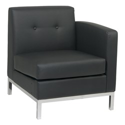 Wall Street Series Modular Right Arm Chair - Black
