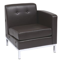 Wall Street Series Modular Right Arm Chair - Espresso