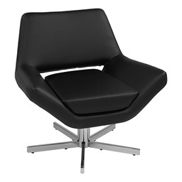 "Yield Series Contemporary 31"" Chair - Black vinyl"
