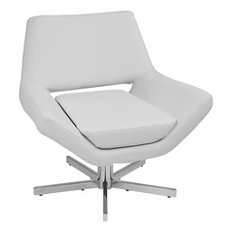 "Yield Series Contemporary 31"" Chair - White vinyl"