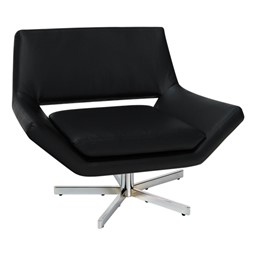 "Yield Series Contemporary 40"" Chair - Black vinyl"
