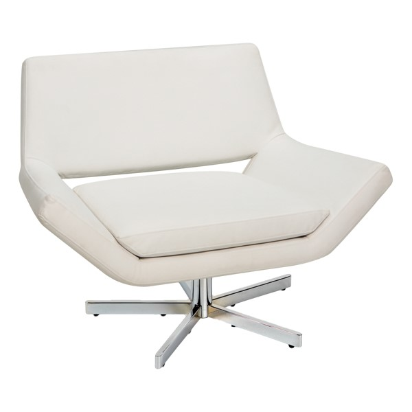 """Yield Series Contemporary 40"""" Chair - White vinyl"""