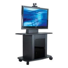 """GMP Series Steel Video Conferencing Cart - Holds 42\"""" to 52\"""" Monitor"""