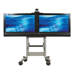 RPS Series Steel Dual Monitor Video Conferencing Stand
