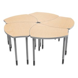 Small Shape Desk w/o Book Box - Multiple desks shown