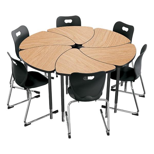 Chevron Collaborative Student Desk - Group Learning