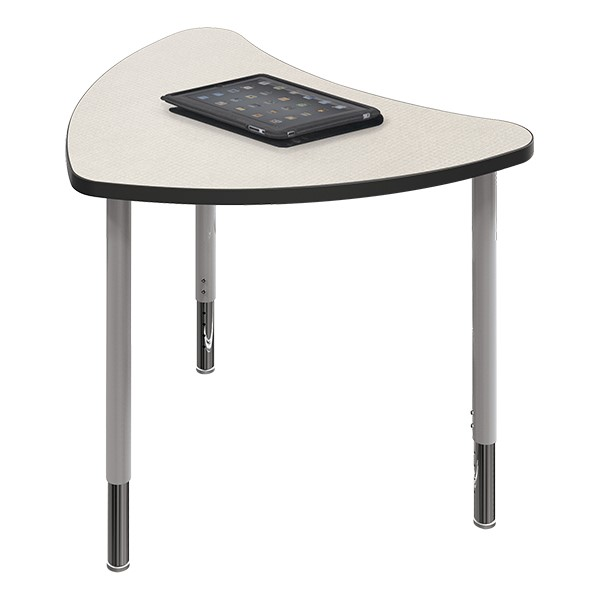 Chevron Collaborative Student Desk - Gray Mesh