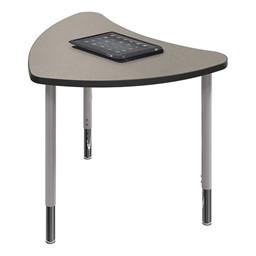 Chevron Collaborative Student Desk - Pewter Mesh