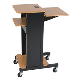 Laptop Caddy Presentation Cart – Teak Finish