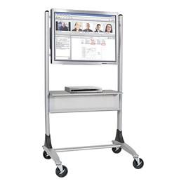 Steel Platinum Flat Panel Cart