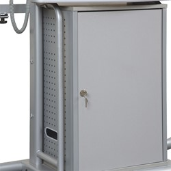 iTeach2 Mobile Interactive Whiteboard Stand - Optional Cabinet