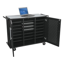 Odyssey Laptop Charging Cart - Open - Front