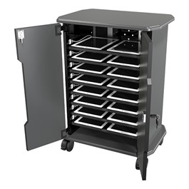 16-Outlet Economy Charging Cart - Loaded