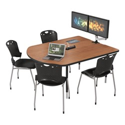 MediaSpace Multimedia & Collaboration Table w/ Monitor Mount - Small