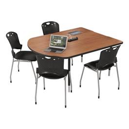 MediaSpace Multimedia & Collaboration Table - Small - Cherry
