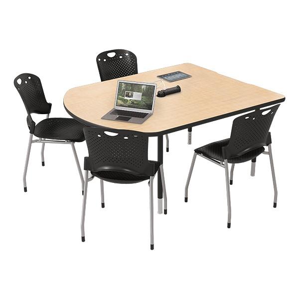 MediaSpace Multimedia & Collaboration Table - Small - Maple