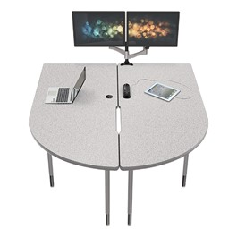MediaSpace Multimedia & Collaboration Table w/ Monitor Mount - Large