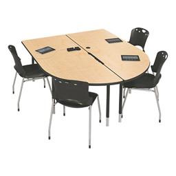 MediaSpace Multimedia & Collaboration Table - Large - Fusion Maple
