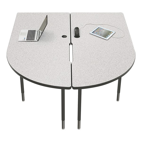 MediaSpace Multimedia & Collaboration Table - Large - Gray Nebula