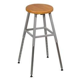 Adjustable-Height Lab Stool - Gray frame