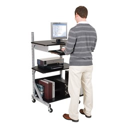 Alekto Compact Sit & Stand Workstation - Shown standing