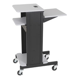 Laptop Caddy Presentation Cart – Gray Finish