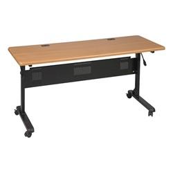 "Flipper Training Table - Teak - Rectangle (24"" W x 60"" L)"