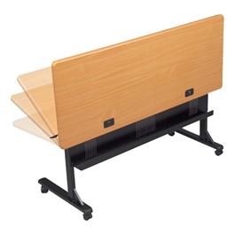 "Flipper Training Table - Teak - Rectangle (24\"" W x 36\"" L)"