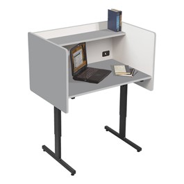 Adjustable-Height Study Carrel