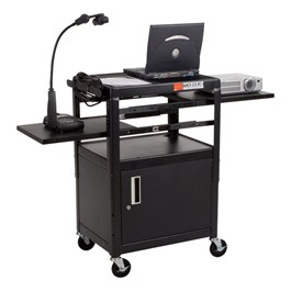 Dual Adjustable Laptop Utility Cart