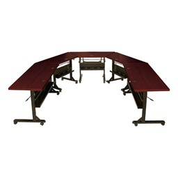 Flipper Training Table - Mahogany - Rectangle (shown on sides)
