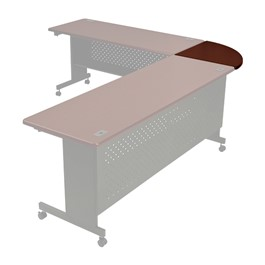 """90-Degree Corner Connector Table (24\"""" D)"""