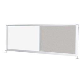 Desktop Privacy Panel - Combo Porcelain Steel/Pebbles Vinyl