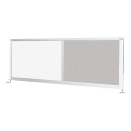 Desktop Privacy Panel - Combo Porcelain Steel/Pebbles Vinyl