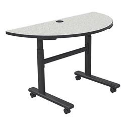 "Sit-to-Stand Flipper Training Table - Half Round (24"" W x 48"" L) - Gray nebula"
