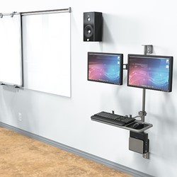 Wall-Mount Workstation - Shown w/ Optional Second Mount