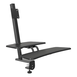 Up-Rite Desk Mounted Sit & Stand Workstation - Single Monitor