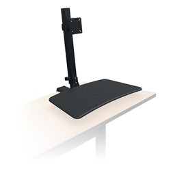 Up-Rite Rear Mounted Sit & Stand Workstation - Single Monitor - Front