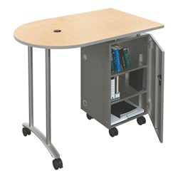 Mobile Teacher Workstation - Fusion maple