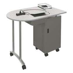 Mobile Teacher Workstation - Gray nebula