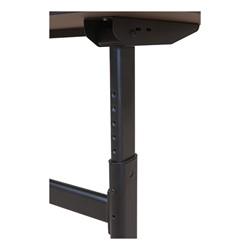 "Sit-to-Stand Flipper Training Table - Half Round (24"" W x 48"" L) - Adjustable leg detail"