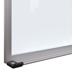 Framed Magnetic Glass Dry Erase Markerboard - Tray