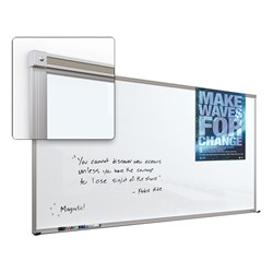 Framed Magnetic Glass Dry Erase Markerboard