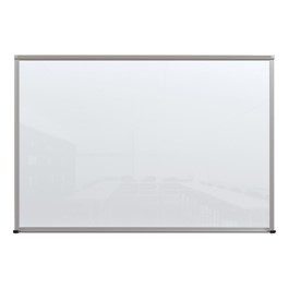 Framed Magnetic Glass Dry Erase Markerboard - White