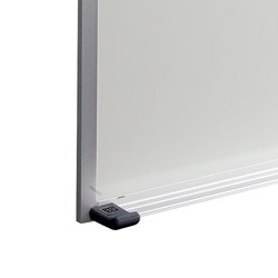 Porcelain Steel Magnetic Dry Erase Board w/ Aluminum Frame & Map Rail - Tray